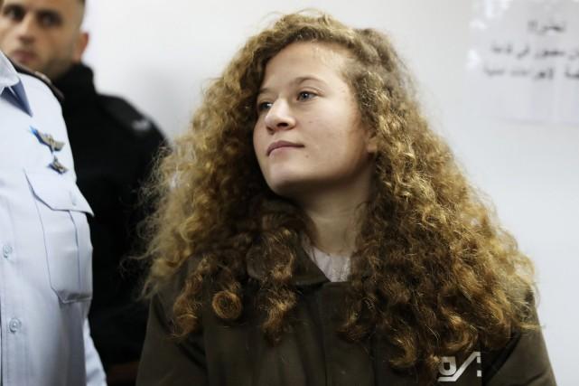 Ahed Tamimi a été arrêtée puis condamnée à... (PHOTO Ammar Awad, ARCHIVES REUTERS)