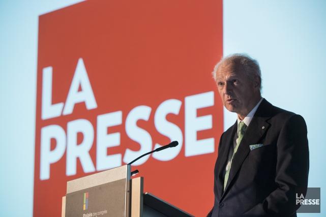 André Desmarais a témoigné en commission parlementaire, mercredi,... (Photo Hugo-Sébastien Aubert, La Presse)