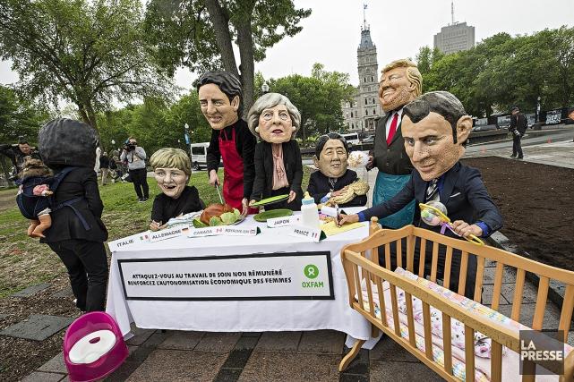 Des mascottes, qui représentent les dirigeants des pays... (Patrick Sanfaçon, La Presse)