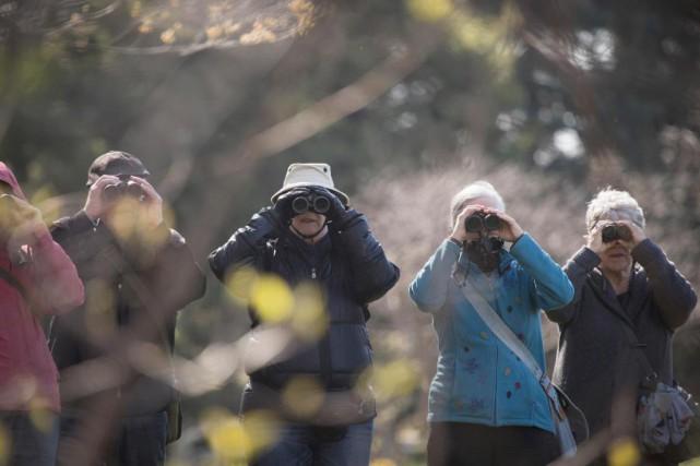 Les membres de laSociété de biologie de Montréal... (Photo Ivanoh Demers, La Presse)