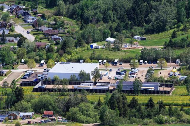 Vue aérienne du centre de détention provisoire aux... (Photo Edouard Plante-Fréchette, La Presse)