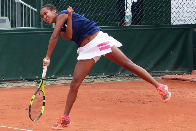 La Lavalloise Leylah Annie Fernandez s'est qualifiée pour... (Photo fournie par Tennis Canada)