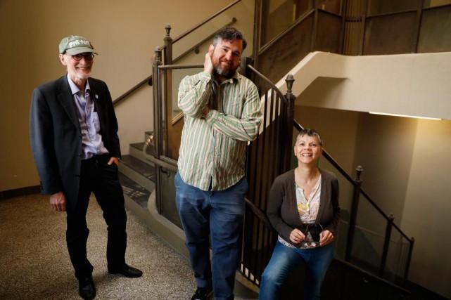 Richard Ducharme, Jacob Wren et Sylvie Lachancecréent depuis... (Photo Martin Chamberland, La Presse)