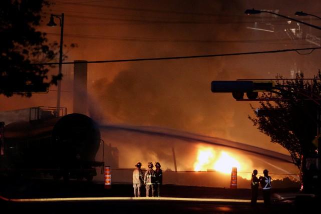 Le 6 juillet 2013, un train de 72... (PHOTO Mathieu Bélanger, archives REUTERS)