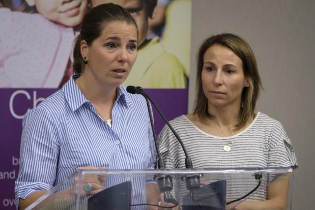 Geneviève Simard (à gauche) et Amélie-Frédérique Gagnon ont... (Photo Jeff McIntosh, La Presse canadienne)