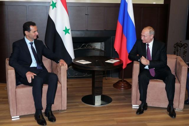 Bachar al-Assad etVladimir Poutine.... (Photo archives Sputnik/Mikhail Klimentyev/Kremlin via REUTERS)