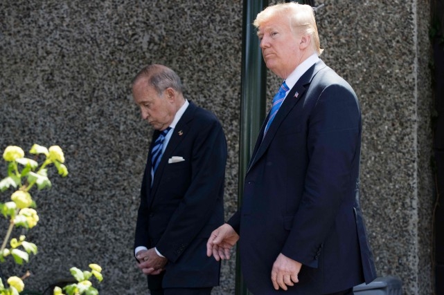 Larry Kudlow a accompagné Donald Trump à La... (PHOTO PC)