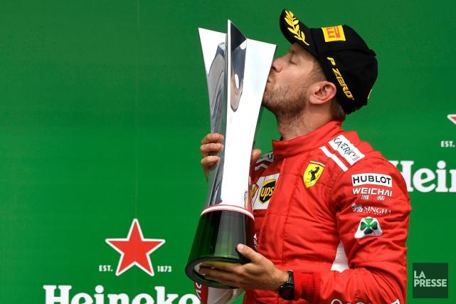 Sebastian Vettelest le premier pilote de l'équipe Ferrari... (PHOTO BERNARD BRAULT, LA PRESSE)