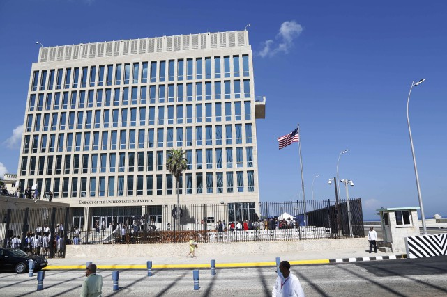 L'ambassade américaine à La Havane, à Cuba.... (AP)