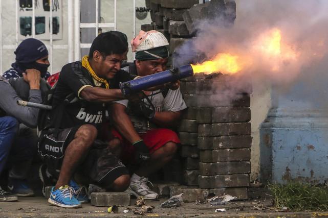 Depuis le début des manifestations, le 18 avril,... (PHOTO AFP)
