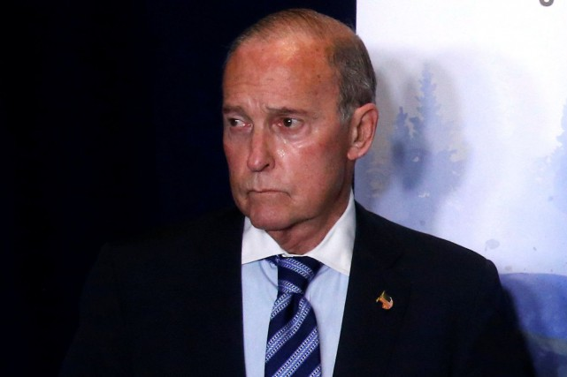 Larry Kudlow lors du sommet du G7 à... (PHOTO REUTERS)