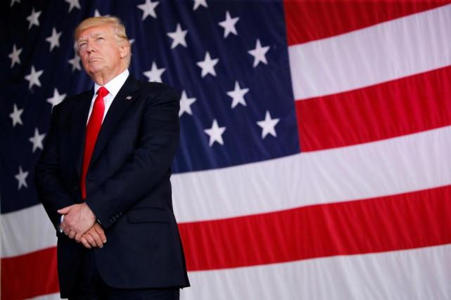 «On regarde aller DonaldJ. Trump, personnage de bande... (ARCHIVES REUTERS)