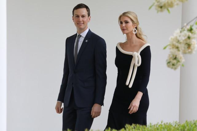 Jared Kushner et Ivanka Trump... (Photo LUDOVIC MARIN, Archives Agence france-Presse)