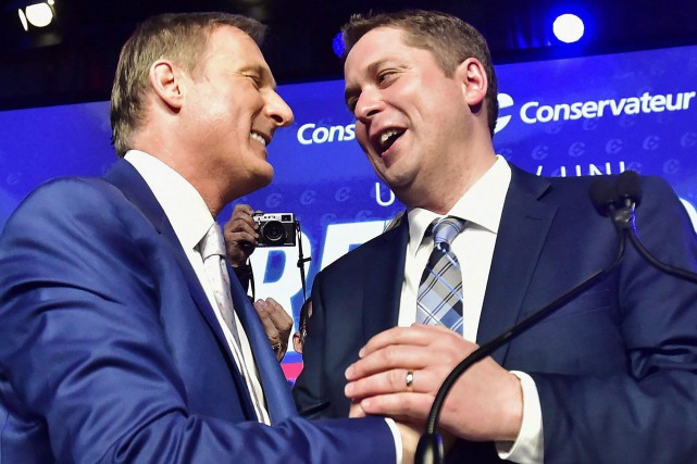 Durant la course au leadership, Maxime Bernier avait... (PHOTO PC)