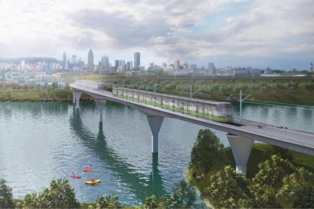 Dans le plan d'aménagement du REM, les stationnements... (Photo Réseau express métropolitain)