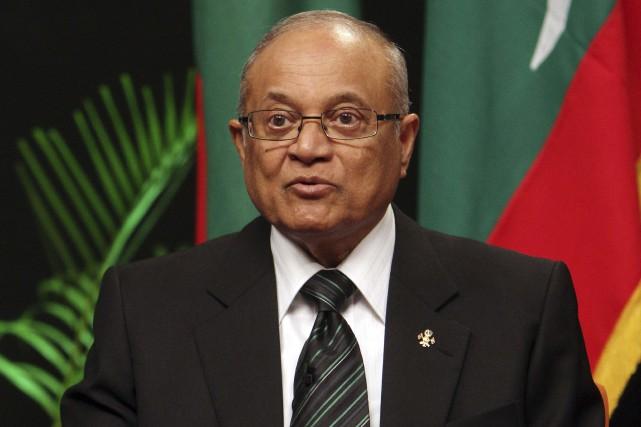 Âgé de 80 ans, Maumoon Abdul Gayoom, vu... (Photo Sinan Hussain, archives Associated Press)