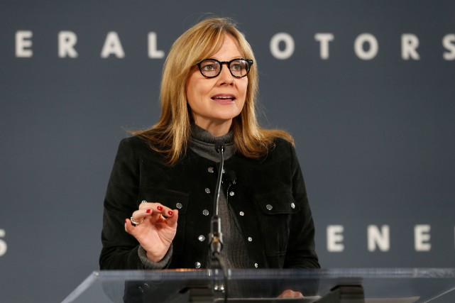 Mary Barra, PDG de General Motors... (REUTERS)