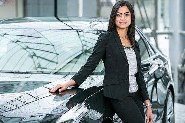 Dhivya Suryadevara, 39 ans, a été nomméeau poste... (photo General Motors)
