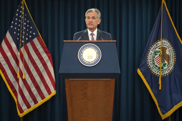 Le président de la Banque centrale américaine (Fed),Jerome... (Photo Andrew Caballero-Reynolds, AFP)