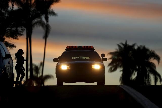 Une voiture de police à San Diego.... (ARCHIVES REUTERS)