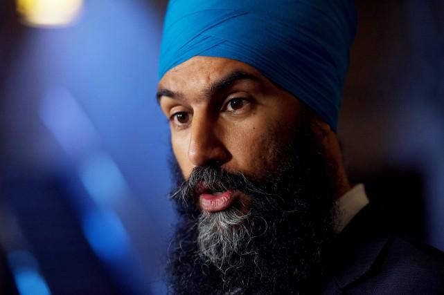 Le chef du Nouveau parti démocratique Jagmeet Singh... (PHOTO Sean Kilpatrick, LA PRESSE CANADIENNE)