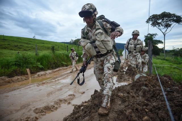 La Colombie, premier producteur mondial de cocaïne, tente... (ARCHIVES AFP)