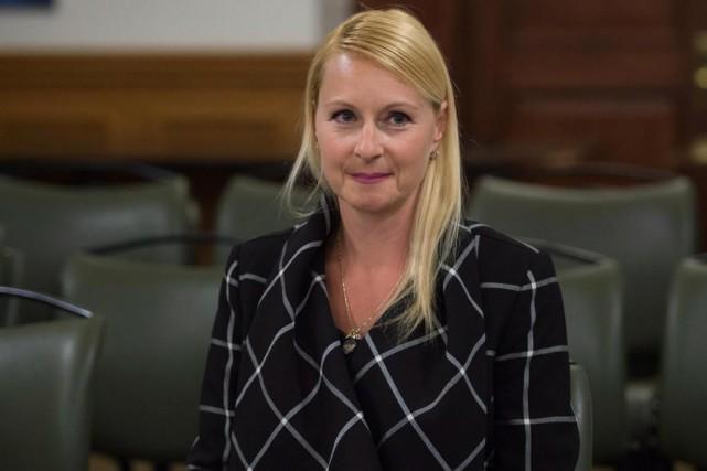 L'ex-analyste du ministère des Transports AnnieTrudel lors de... (ARCHIVES PC)