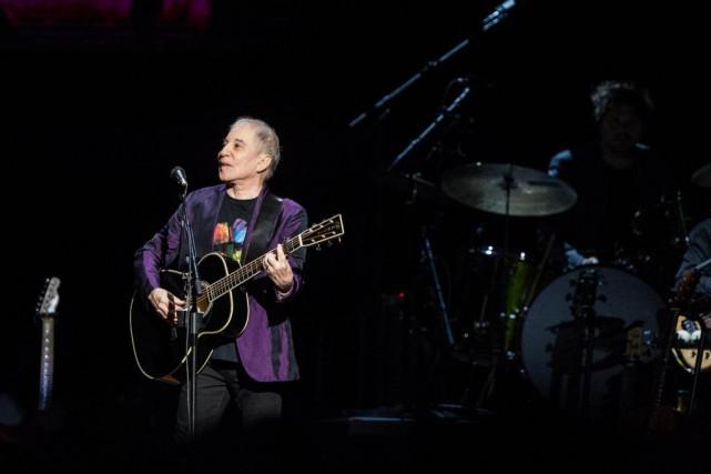 Le chanteur PaulSimon a donné un concert au... (Photo Alexis Aubin, collaboration spéciale)