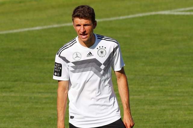 Thomas Müller... (Photo Leonhard Foeger, Reuters)