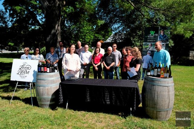 Une quinzaine de vignerons de Brome-Missisquoi ont fait... (Photo Alain Dion, La Voix de l'Est)