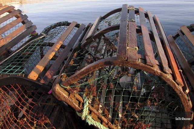 Sur cette photo figurent descasiers à homards vides.... (ARCHIVES LA TRIBUNE)