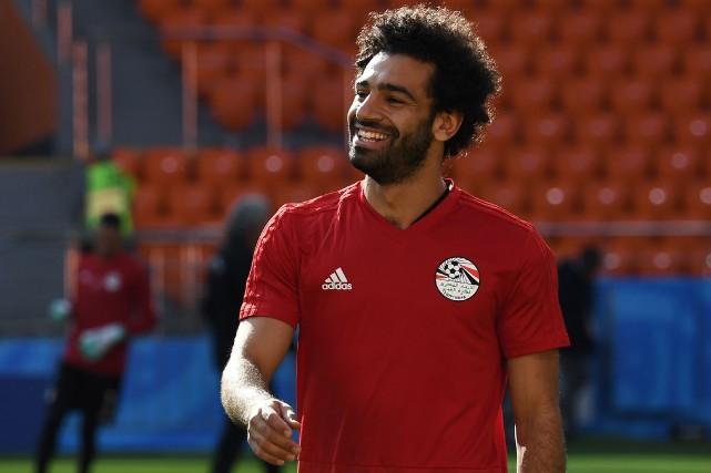 Mohamed Salah... (Photo Christine Poujoulat, AFP)