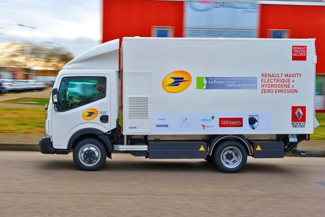 Ce camion de livraison à hydrogène Renault est... (Photo Camions Renault)