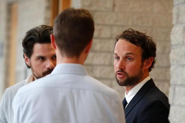 Au procès du policier Patrick Ouellet (à droite),... (Photo Martin Chamberland, Archives La Presse)