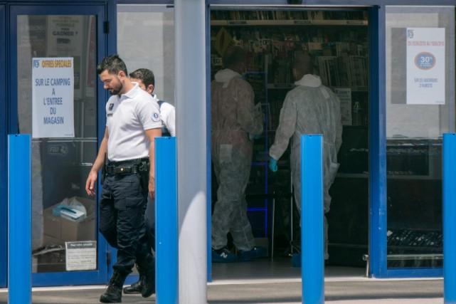 Maîtrisée immédiatement après les faits au supermarché Leclerc... (AFP)