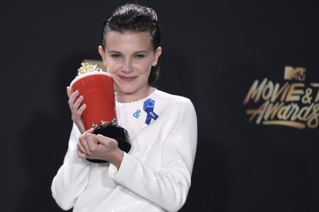 L'actrice Millie Bobby Brown qui incarne Eleven dans... (Photo AP)