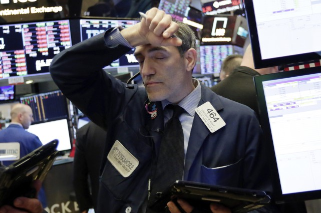 Le Dow Jones Industrial Average a cédé 1,15%... (Photo Associated Press)