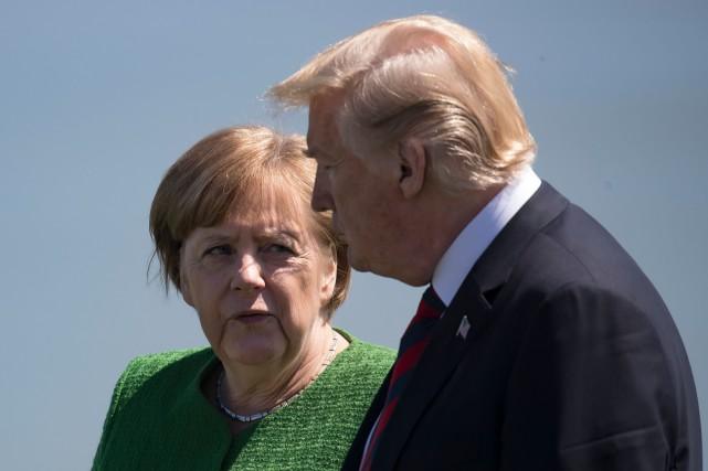 Angela Merkel a réfuté les affirmations de Donald... (Photo Agence France-Presse)