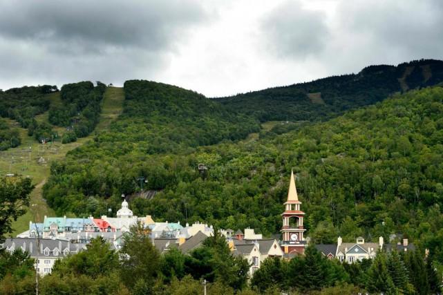 Vue du mont Tremblant ainsi que des hôtels... (PhotoBERNARDBRAULT, Archives LA PRESSE)