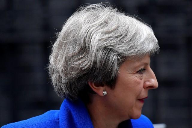 Theresa May... (PHOTO REUTERS)