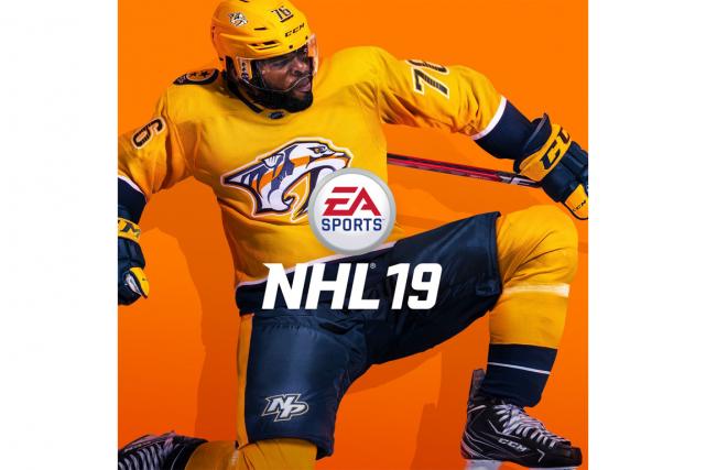 La couverture de NHL 19 mettant en vedette... (ILLUSTRATION TIRÉE DE TWITTER)