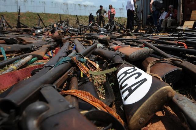 En Centrafrique, l'État ne contrôle qu'une maigre partie... (PHOTO SIA KAMBOU, ARCHIVES AGENCE FRANCE-PRESSE)