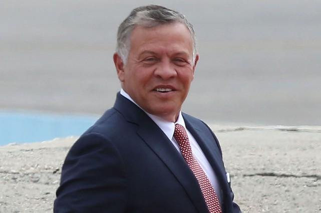 Le roi AbdallahII de Jordanie... (Photo KHALIL MAZRAAWI, archives Agence France-Presse)