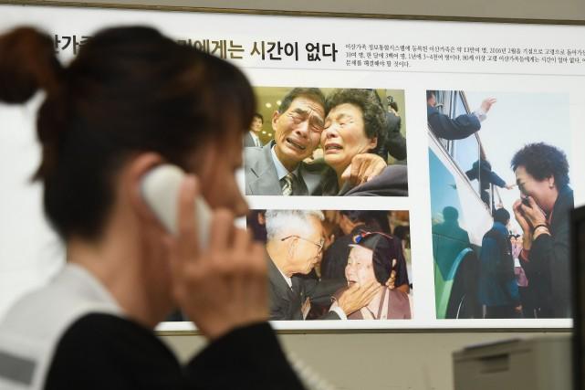 Des millions de personnes avaient été séparées voici... (Photo Jung Yeon-je, Agence France-Presse)