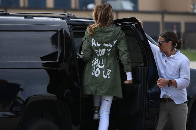 Melania Trump, qui choisit toujours ses tenues avec... (Photo Mandel Ngan, Agence France-Presse)