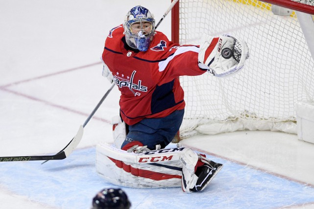 Philipp Grubauer, 26 ans, a compilé un dossier... (Photo Nick Wass, Archives AP)
