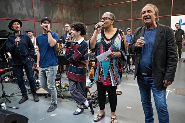 Michel Rivard, Jean-Marc Couture, Hubert Lenoir, Kim Richardson... (PHOTO PATRICK SANFAÇON, LA PRESSE)