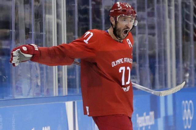 Ilya Kovalchuk aux Jeux olympiques de PyeongChang.... (PHOTO MATT SLOCUM, ARCHIVES AP)