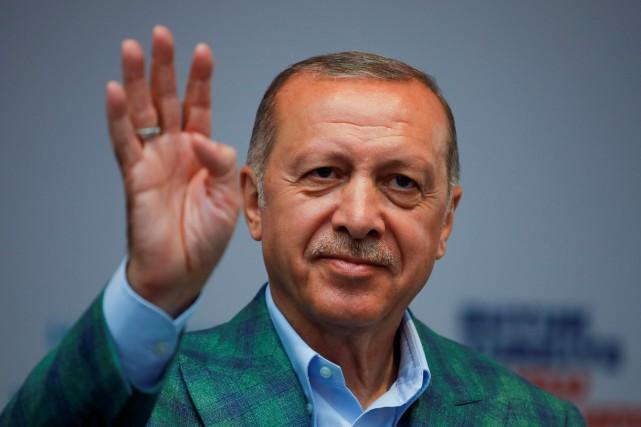 Le président turc Recep Tayyip Erdogan... (PHOTO Alkis Konstantinidis, REUTERS)