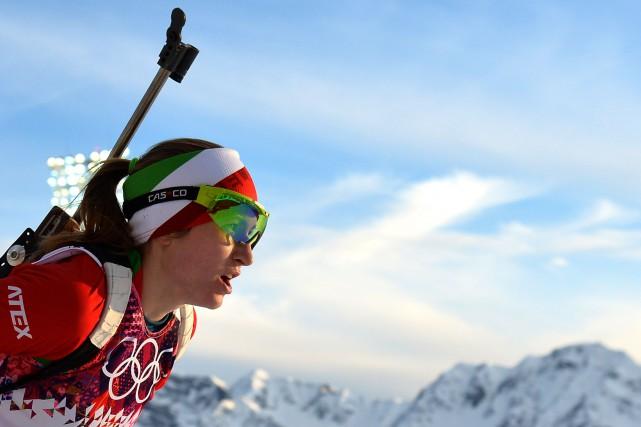 Darya Domracheva... (Photo ALBERTO PIZZOLI, archives Agence France-Presse)